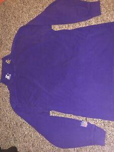 NFL Pro Line Starter Minnesota Vikings Long Sleeve Shirt Collar Size Large