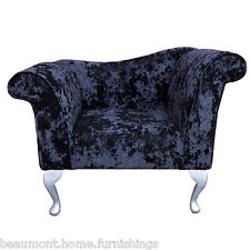 Designer Chaise Chair Armchair in a Night Lustro Fabric