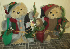 Adorable Grandin Road Set of Saint Nicholas Patch Quilt Christmas Santa Bears