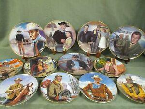 Lot of 12 John Wayne Plates Instant Collection-MF