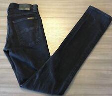 Nudie Jeans Co Mens Tube Kelly Organic Black Black Straight Leg Skinny 26W x 32L
