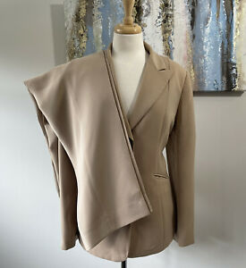 TAHARI ARTHUR S LEVINE Women Elegant Beige Brown Pant Suit Size 12