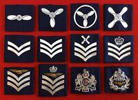 Royal Air Force Blue Rank Slides RAF NCO'S WO'S Shoulder Rank Slide Sgt CPL LAC