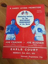 Joe Frazier V Joe Bugner 1973 Programme