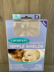 Lansinoh Standard Nipple Protectors Shield Baby Breastfeeding Aid Contact 24mm