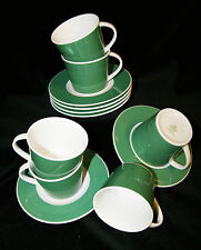 Mitterteich Porzellan 12 tlg Kaffee/Tee Service Grün-Weiß Geschirr