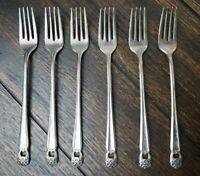 Eternally Yours Vintage Grille Fork set 1847 Rogers Silverplate 8 Pcs 1941