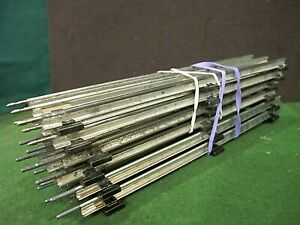 "027 Gauge 3-Rail 9"" Straight Track 6 Pieces  marx~ all pins present"