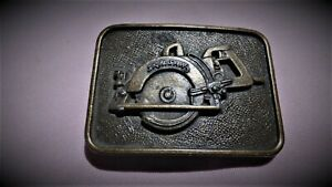 Skil Saw  Vintage  Brass  Belt Buckle Hunting  Fishing Tool  skilsaw woodworking