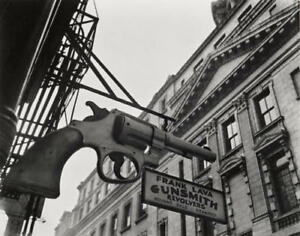 "BERENICE ABBOTT Signed 1937 Photograph - ""Gunsmith and Police Department"""