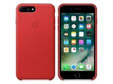 Original Apple iPhone 7 Plus Leder Schutz Hülle Case Cover MMYK2ZM/A Rot RED