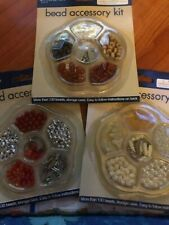 Lot Of 3-Create Your Own Jewelry Maker Set Beads Kit Bracelet Necklace Pkg 1