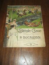 SPARTITO,VINTAGE 1901,CORSE CAVALLI,STEEPLE-CHASE LIBERTY,CARISCH LEIPZIG MILANO