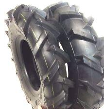 (2) Two Deestone 4.00-8 400-8 Lug 4PLY Tractor Lawn Mower Garden Tires