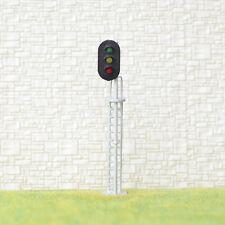 Sale 1 x HO / OO Scale Model Train Block Signals Railroad LED Light Silver #S3LH