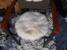 Sitzkissen Sitzunterlage Lammfell/Schaffell Weiß Rund Ø ca. 50 cm Natur, Hocker