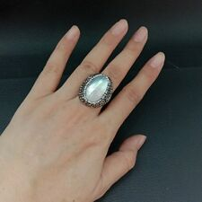 25x27MM Oval White Shell Ring