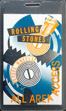 ROLLING STONES - STEEL WHEELS TOUR - LAMINATED BACKSTAGE PASS - ALL AREA ACCESS