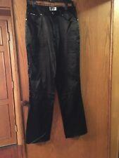 Anna Sui  black satin  jeans pants Sz31