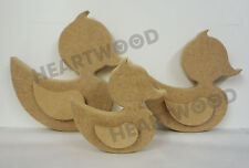 DUCK TRIO IN MDF (18mm thick)/WOODEN CRAFT SHAPE/BLANK DECORATION PLAQUE