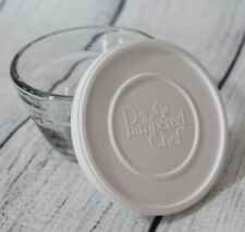 Pampered Chef Measuring Cup Prep Bowl with Lid 3/4 to 1 Cup Glass Made in USA