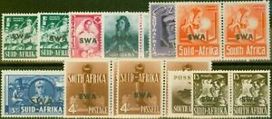 S.W.A 1941-43 War Effort Extended set of 11 SG114-122 All Shades Fine Mtd Min...