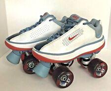 Nike Beachcomber Retro Quad Roller Skates White Derby Beach Ladies Girls Size 4