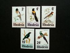 1977,Rhodesia,sg 537 - 541 (no542), BIRDS,MM