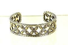 JOHN HARDY Kawung Sterling Silver 18K Yellow Gold Cuff Bracelet