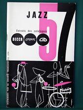 JAZZ - Decca London CID Records - orig 1957 French Catalog