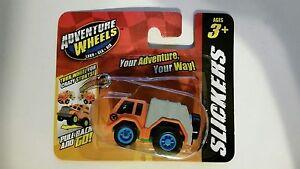 Maisto Adventure Wheels, Slickers, Garbage Truck, Motorized Pull Back & Go! 3+