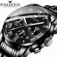 Luxury Men Fashion Stainless Steel Military Army Analog Sport Quartz Wrist Watch
