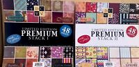 2 Pad Lot DCWV 12x12 Scrapbooking Limited Edition Premium Stack I & Stack II