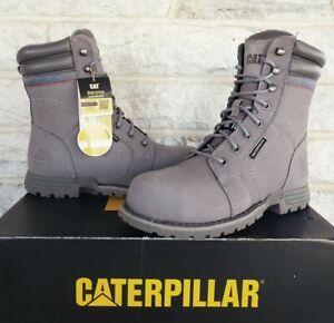 "Caterpillar CAT Womens 8"" Echo Steel Toe WP Work Boots Size 7 Grey P90565 $155"