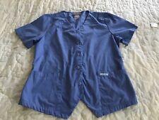 Cherokee Scrub Top Size Medium Button Front