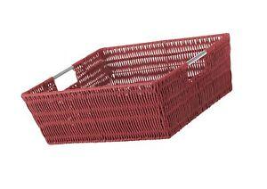 Whitmor Rattique Shelf Tote Red