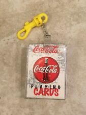 Coca-Cola Mini Playing Cards on Key Chain Collectible 1999 Full Deck Pre-owned