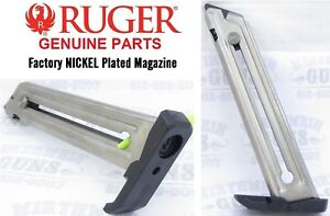 Factory RUGER Nickel 90229 22/45 Magazine 10 round Mark 3 MK III MKIII MK3