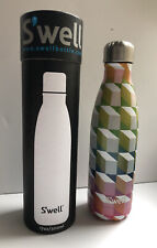S'well Vacuum Insulated Stainless Steel Water Bottle Cattleya 17 oz NEW Cube