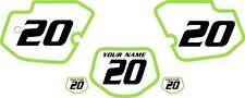 1989-1994 Kawasaki KDX200 Pre-Printed White Backgrounds Green Bold Pinstripe