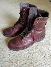 Diesel Cassidy Leather Boots 10.5 Seal Brown