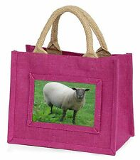 Sheep Intrigued by Camera Little Girls Small Pink Shopping Bag Christm, ASH-5BMP
