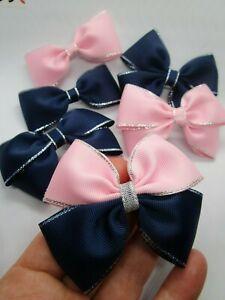 Hair Bow Clip Girls Lady Women Kids Hair Accessories Wedding Christening Prom UK