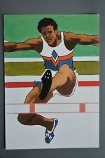 R&L Postcard: 1984 Los Angeles Olympics, Robert Peak, Hurdles