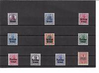 Deutsche Besetzung WK I, M.V.i.R., Einzelmarken **, postfrisch **, teils BPP
