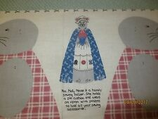 MRS. MOLLY MOUSE SEWING HELPER Cotton Fabric DOLL Panel with Instructions