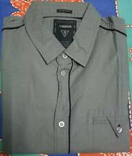 BRANDED GRAY SLIM FIT SMART CASUAL 100% COTTON SHIRT FOR MEN & BOY'S-SIZE-MEDIUM