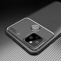 For Google Pixel 4a 5G 5 XL 4 XL 3a Shockproof Carbon Fiber Silicone Case Cover