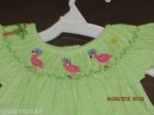 Vive La fete Girl smocked bishop Flamingo  3T New! Just Arrived!!! WOW Sale