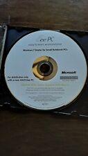 Asus EEE PC Recovery Windows 7 Starter DVD 1001HA/1005 Netbook OEM